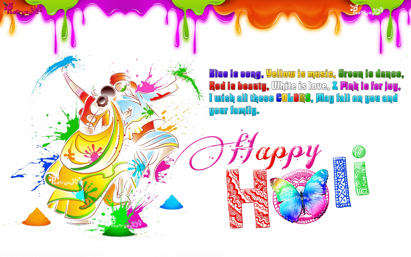 3D Holi Desktop Wallpaper 12057